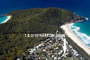 1 & 2/10 Harrow  Dr, Boomerang Beach, NSW 2428