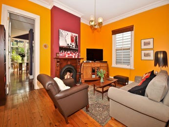 Red living room idea from a real Australian home - Living Area photo 524593