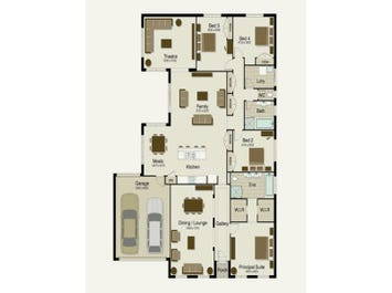 The Meridian 300 - floorplan