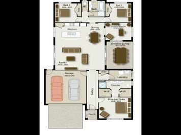 The Seabreeze 235 - floorplan