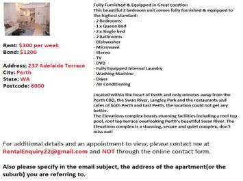 Perth, address available on request