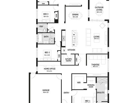 Riviera 33 - floorplan