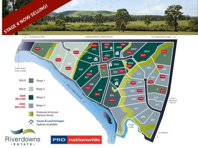 Lots 401 - 413 'Riverdowns Estate', East Seaham Road, Clarence Town, NSW 2321