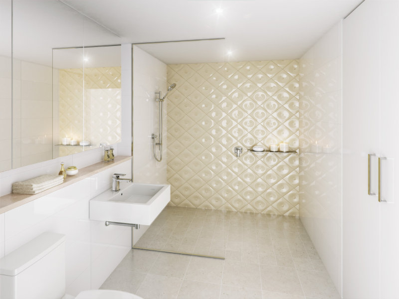 Ceramic in a bathroom design from an australian home
