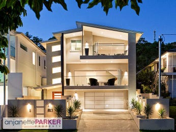 Tiles modern house exterior with balcony & path lighting - House Facade photo 104032