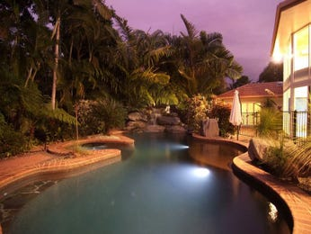 Swim spa pool design using pavers with spa & ground lighting - Pool photo 499934