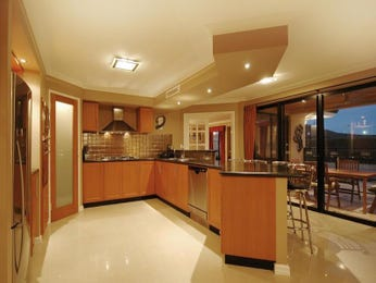 Modern island kitchen design using exposed brick - Kitchen Photo 105600