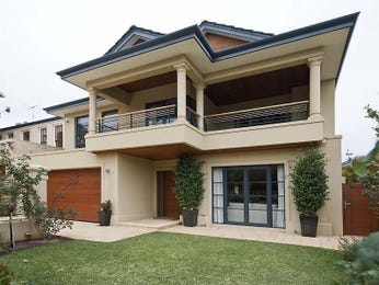 Brick modern house exterior with balcony & landscaped garden - House Facade photo 109818