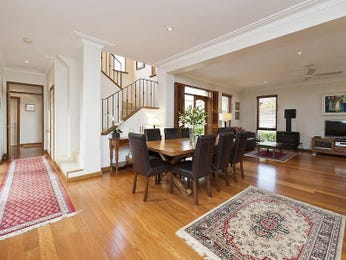 Classic dining room idea with floorboards & fireplace - Dining Room Photo 1432871