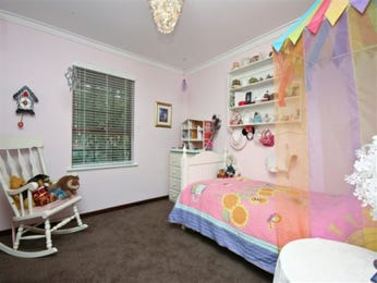 Children's room bedroom design idea with tiles & built-in shelving using blue colours - Bedroom photo 349866