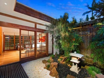 Tropical garden design using bamboo with deck & rockery - Gardens photo 113903
