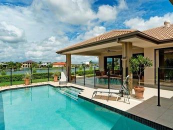 Freeform pool design using bluestone with pool fence for Pool fence design qld