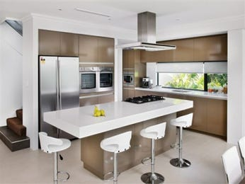 Modern island kitchen design using marble - Kitchen Photo 115718