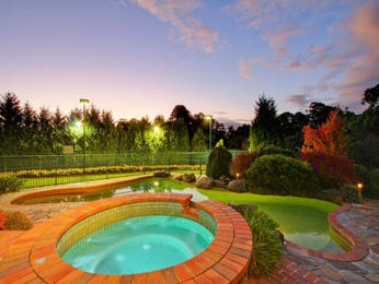 Landscaped garden design using brick with pool & decorative lighting - Gardens photo 166789