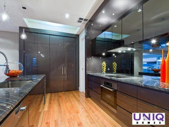 Modern galley kitchen design using floorboards - Kitchen Photo 171192