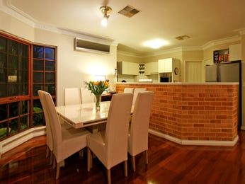 Red dining room idea from a real Australian home - Dining Room photo 503341