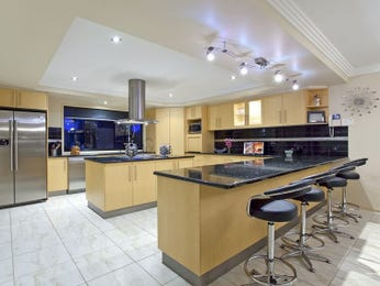 Modern galley kitchen design using hardwood kitchen photo 180852
