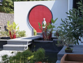 Outdoor living design with fish pond from a real Australian home - Outdoor Living photo 8017629