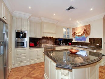 Cream french provincial small kitchen l shape home for Cream and brown kitchen ideas