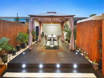 Multi-level outdoor living design with outdoor dining & ground lighting using brick - Outdoor Living Photo 1784357