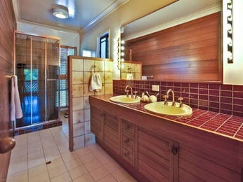 Period bathroom design with twin basins using tiles - Bathroom Photo 497055
