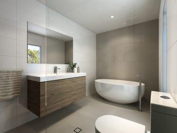Modern bathroom design with freestanding bath using frameless glass - Bathroom Photo 15028125