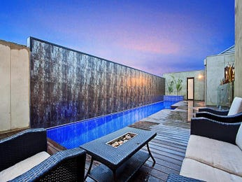 Indoor pool design using wrought iron with pool fence & latticework fence - Pool photo 240838