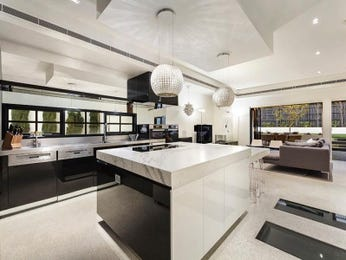 Chandelier in a kitchen design from an Australian home - Kitchen Photo 16886817