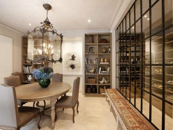 Classic dining room idea with hardwood & staircase - Dining Room Photo 243373