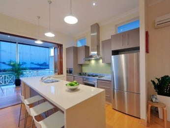 Classic kitchen-dining kitchen design using frosted glass - Kitchen Photo 386328