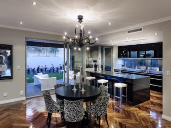 Black dining room idea from a real Australian home - Dining Room photo 14765373