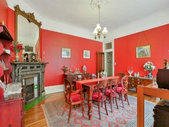 Red dining room idea from a real Australian home - Dining Room photo 8030281
