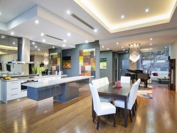 Modern kitchen-dining kitchen design using floorboards - Kitchen Photo 6974601