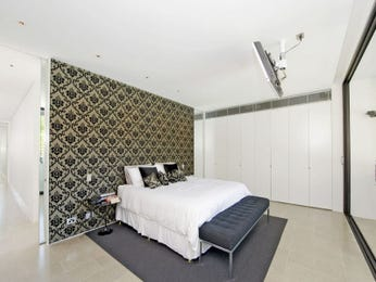 Classic bedroom design idea with tiles & built-in wardrobe using grey colours - Bedroom photo 445639