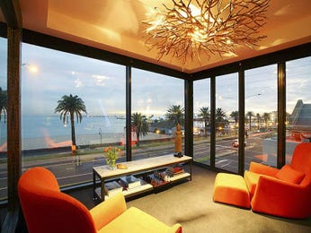 Orange living room idea from a real Australian home - Living Area photo 473190