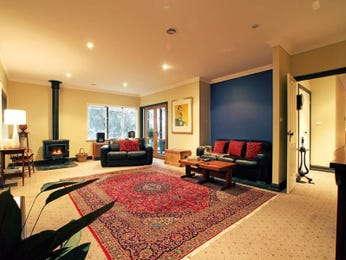 Open plan living room using black colours with carpet & bay windows - Living Area photo 1522778