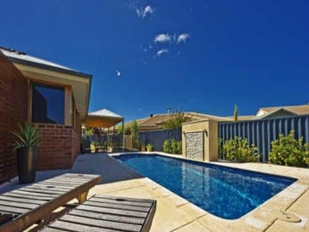 In-ground pool design using tiles with retaining wall & hedging - Pool photo 1077174