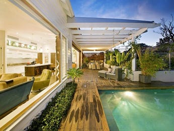 Indoor pool design using tiles with verandah & ground lighting - Pool photo 1274420