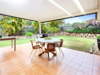 Enclosed outdoor living design with bbq area & outdoor furniture setting using grass - Outdoor Living Photo 694734