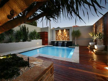 Indoor pool design using timber with decking & decorative lighting - Pool photo 300972