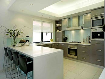 u-shaped kitchen designs with stainless steel and canopy range hood