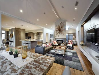 Kitchen-living living room using beige colours with floorboards & bar/wine bar - Living Area photo 1430050