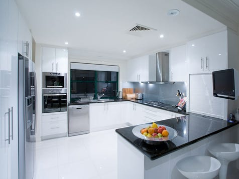 White Kitchen Black Benchtop view the kitchen-benchtopsfloor photo collection on home ideas