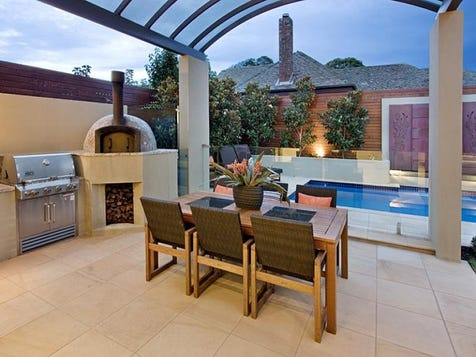 View the outdoor ideas photo collection on home ideas for Outside barbecue area design