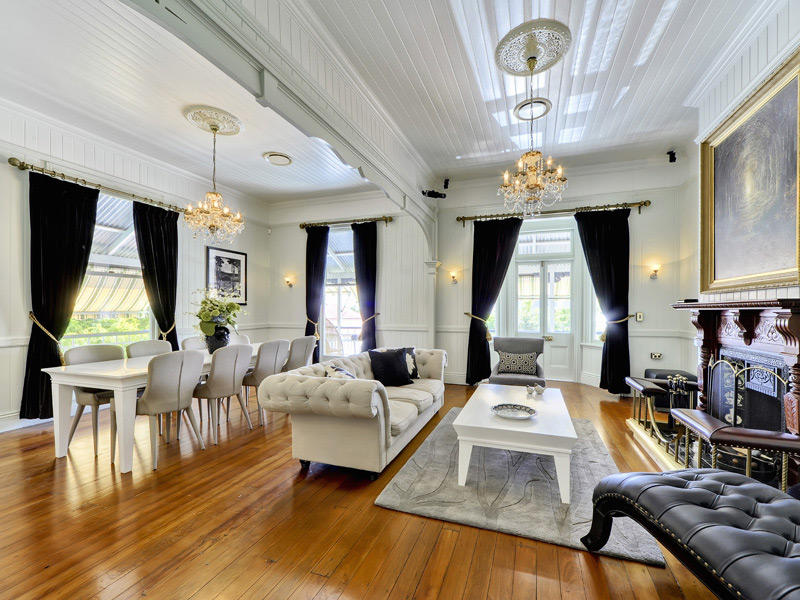 Dining Living Living Room Using White Colours With Wood