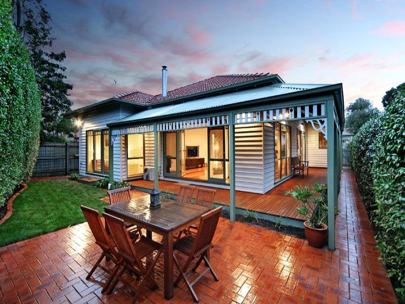 Corrugated Iron Victorian House Exterior With Porch
