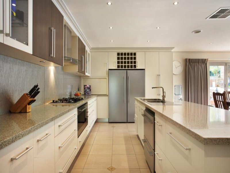 Classic galley kitchen design using granite kitchen for Galley kitchen designs australia