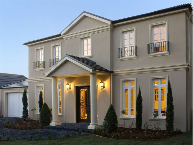 Prime Georgian House Exterior With French Doors Feature Lighting Largest Home Design Picture Inspirations Pitcheantrous