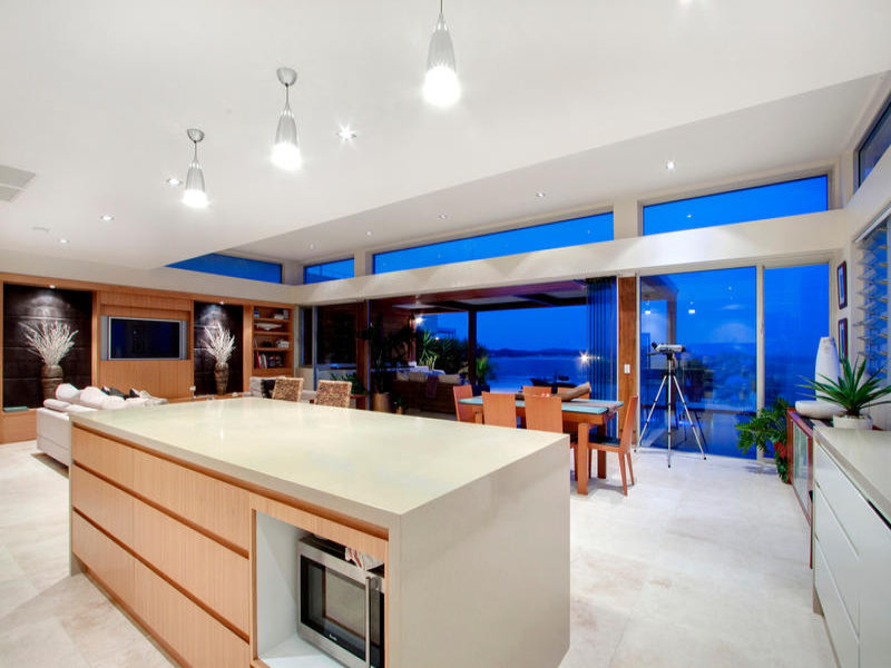 lighting in a kitchen design from an Australian home  Kitchen