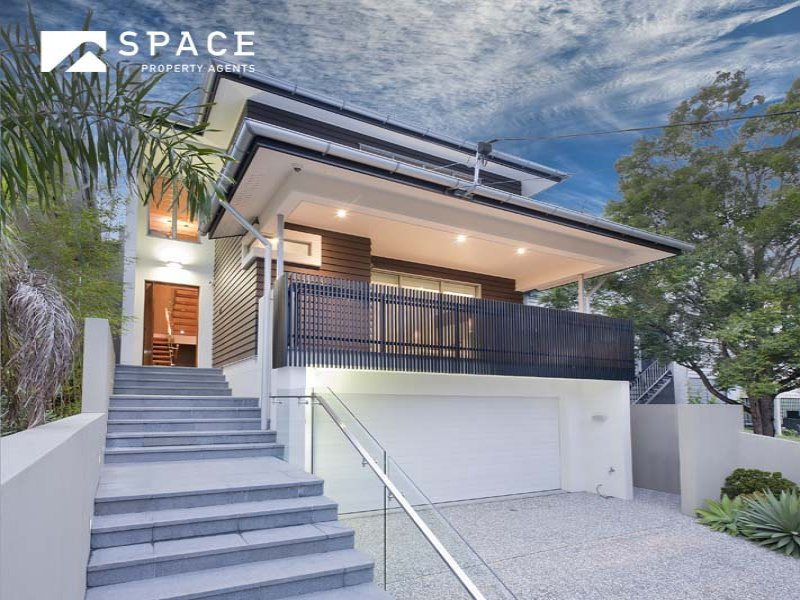 Photo of a house exterior design from a real australian for Garage below house